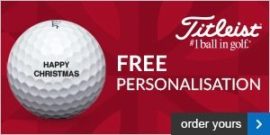 Free Personalisation on Titleists, from £18.99